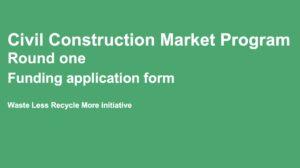 NSW EPA Civil Construction Market Program