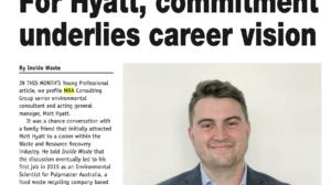Matt Hyatt profiled by Inside Waste